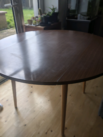 FREE foldable dining table/Mid century modern/ Wood effect/70s/Furn