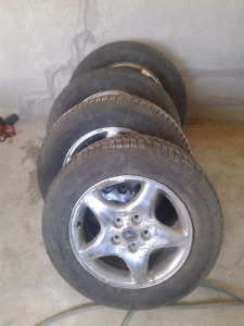 I have a set of  rims  and  Michelin winter  tires for sale