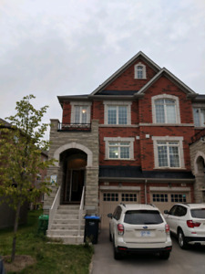 4 bedroom end unit townhouse for lease august 15 in Brampton