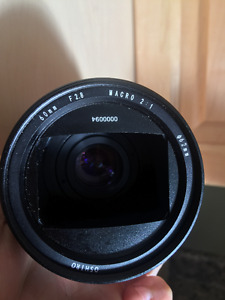 60mm macro lens with A series adapter.