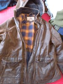 Monterrey brown leather coat
