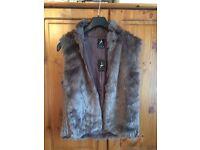 Atmosphere faux fur gilet size 14