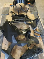 GS500 full fairings great condition. full black