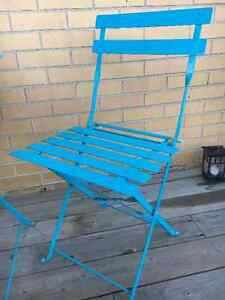 Cute Blue Patio Table for Two Kitchener / Waterloo Kitchener Area image 5