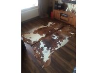 Genuine cowhide rug 8 months old cost £160 from ikea