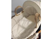 Clare Du Lune Moses Basket & Stand