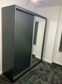 Modern Sliding 2 Door Wardrobe / Fast & Free Delivery
