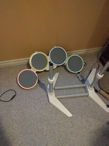 Rock band for Nintendo Wii band set and 2 games.