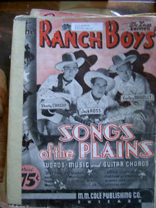 Vintage Sheet Music / Gene Autry / Wilf Carter / Guitar / Piano