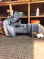 Early 80's 9.9 johnson outboard with tank and hose