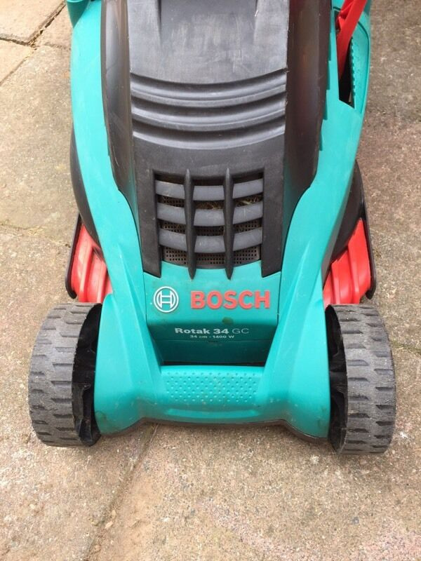 bosch rotak 34 gc lawn mower in carlton nottinghamshire gumtree. Black Bedroom Furniture Sets. Home Design Ideas
