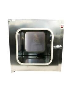 220V Electric Stainless Steel UV Transfer Cleanroom 15.7*15.7*15.7inch(inside diameter) 230530