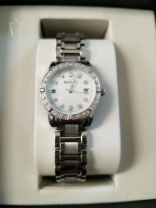 Bulova Women's Diamond-Accented Silver Tone Stainless Stl watch