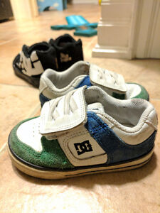 Toddler boy DC shoes 2 pairs size 6