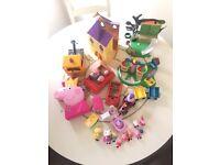 Peppa pig bundle. Figures, car, castle, truck, treehouse etc