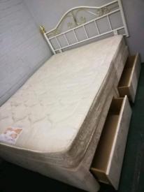 4 Drawer Double Divan bed
