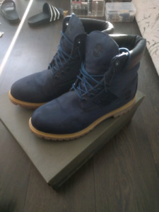 Timberland 6 inch premium boots blue camo us 8.5