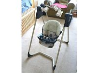 Graco Musical Baby Swing - like new