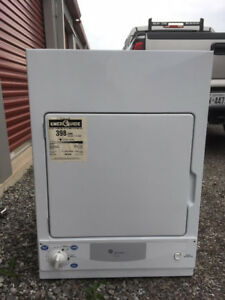 GE Spacesaver 3.6 cu. ft. front load dryer, with stand