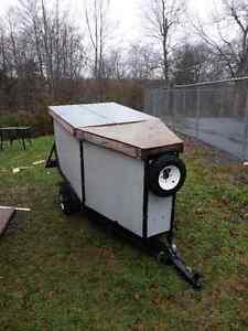 Motorcycle trailer converted into utility trailer $550 OBO