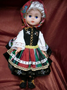 like new Polish Costumed 19 inch doll 1/2 price $7.50