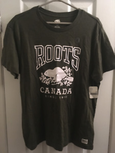 ROOTS CLASSIC T-SHIRT (Large) FATIGUE MIX