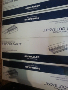 Four..11.5 chrome wire slide out baskets