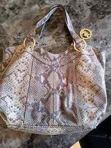 Mk michael kors python moxley handbag bag purse dark sand Belleville Belleville Area image 4