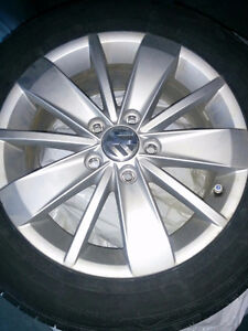 4x 16inch vw rims with 90%rubber $750 OBO