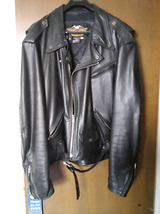 Harley Davidson leather jacket size 5XL