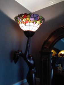 Art deco Statue Tiffany lamp lampe