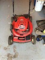 22in self propelled lawnmower electric start