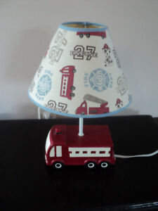 Baby Toddler Children's Firetruck Lamp