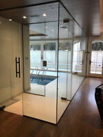 FRAMELESS GLASS SHOWERS MIRRORS AND RAILING