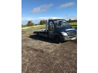 Mercedes sprinter 516 cdi recovery truck 2010 reg 17 ft body remote winch