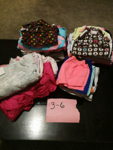 3-6 months girls clothes used