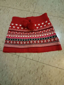 Toddler 3 Years old  red skirt