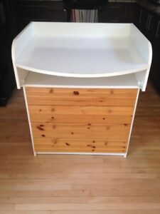 Attractive IKEA Baby Change Table and 4 Drawer Dresser