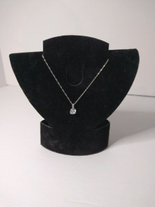 Stone necklace and  sterling silver