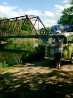 Learn to drive standard in a vw bus driving lesson..