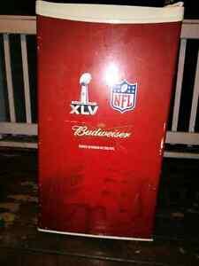 Beer fridge Superbowl Budweiser official nfl Sarnia Sarnia Area image 1