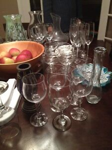 Various glassware (apples not included)