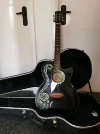 Luna electric acoustic guitar