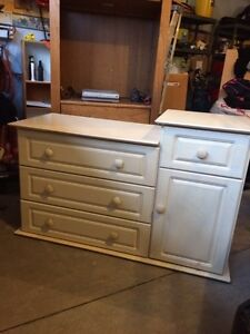 Baby change table Solid wood white wash finish