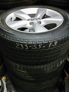 235 55 17 Michelin on OEM Lexus RX Toyota RAV4 alloy rims TPMS
