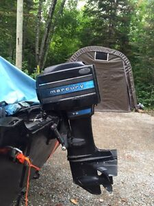 Reduced 70Hp Mercury Outboard with controls