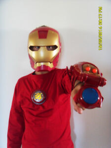 Iron Man Mask, Power Button and Shooting Arm