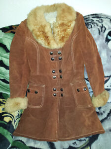 Brown Suede Jacket Small