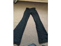 Black size XS lace trousers