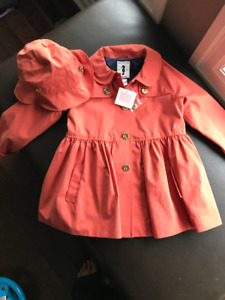 Girls Fancy Coat and Hat- Brand New!